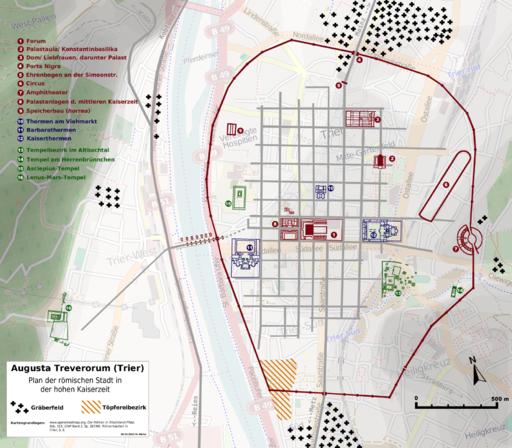 Augusta Treverorum Stadtplan