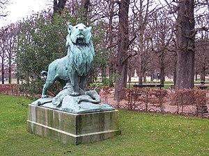Auguste Cain - Le Lion de Nubie et sa Proie, by Auguste Cain