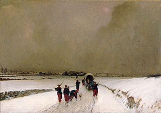 Les Trainards : effet de neige