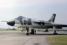 An Avro Vulcan B.2 of the type operated by No. 9 Squadron between 1962 and 1982.