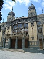 Azerbaijan State Opera and Balet Theatre in Downtown Baku.
