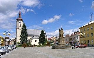 Bílovec Town in Moravian-Silesian, Czech Republic