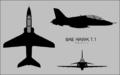 BAe Hawk T.1 three-view silhouette.png