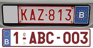 Vehicle registration plates of Belgium Belgium vehicle license plates