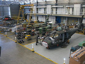 Military helicopter - Helibras HM-1 Pantera under construction in Brazil.