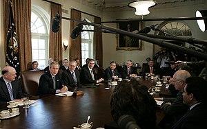 Presidency of George W. Bush - Cabinet meeting