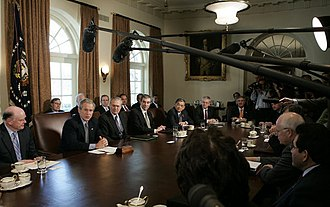 Presidency of George W. Bush - Cabinet meeting
