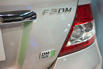 BYD F3DM - BYD F3M dual mode badging.