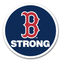 Patch worn by the Boston Red Sox in memory of Boston Marathon bombing victims B Strong badge.png