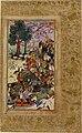 Babur and his men drive the Uzbeks toward Samarkand..jpg