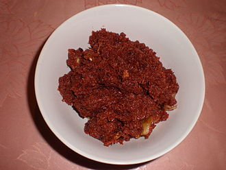 Bagoong - Bagoóng alamáng is made by fermenting krill in salt