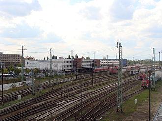 Cottbus Hauptbahnhof - Track field, left of the entrance building (2009)