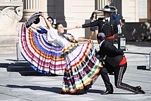 Baile folklórico dancers at Yale 2, October 17, 2008.jpg