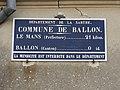 Ballon (Sarthe) plaque de cocher identifiant communal.jpg
