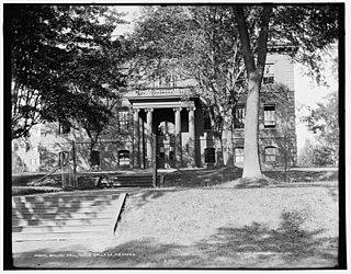 Ballou Hall building in Medford, Massachusetts, United States