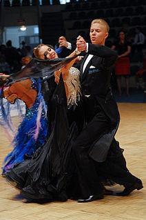 Quickstep standard ballroom dance