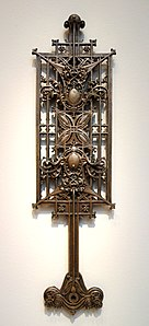 Baluster from the Schlesinger and Mayer Store (later Carson Pirie Scott), by George Grant Elmslie, 1899-1904, cast iron - Chazen Museum of Art - DSC02458