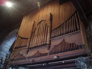 Bamboo Organ - The reverse of the bamboo organ