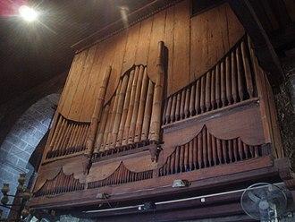 Bamboo Organ - The reverse of the bamboo organ