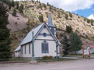 1891 in the United States - First Baptist Church in Lake City, Colorado, built in 1891