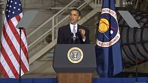 Speech of Barack Obama at KSC.