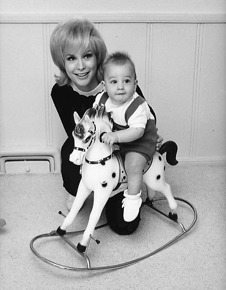 Barbara Eden and son Matthew Ansara 1966