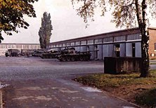 Barker Barracks Tank Park central c1980