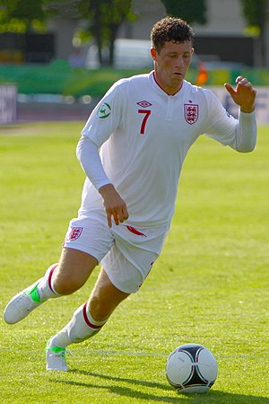 Ross Barkley - Barkley playing for England under-19s in 2012