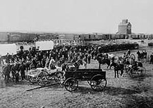 English: Barr colonists in Saskatoon, Saskatch...