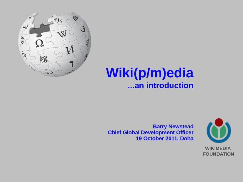 File:Barry Newstead Presentation at Arabic WP Convening-Doha-October2011.pdf