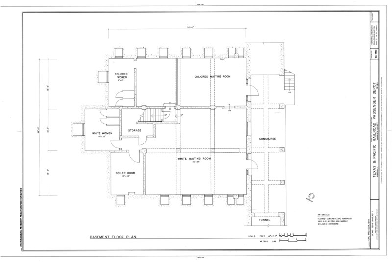 File basement floor plan texas and pacific railroad for Railroad depot plans