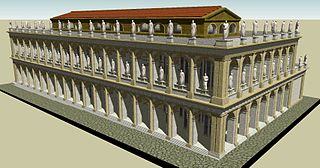 Basilica Julia building in Roman Forum, Italy