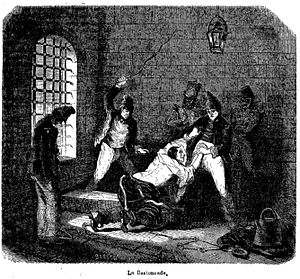 Pierre Zaccone - Caning, illustration of the fate of the convicts by Zaccone
