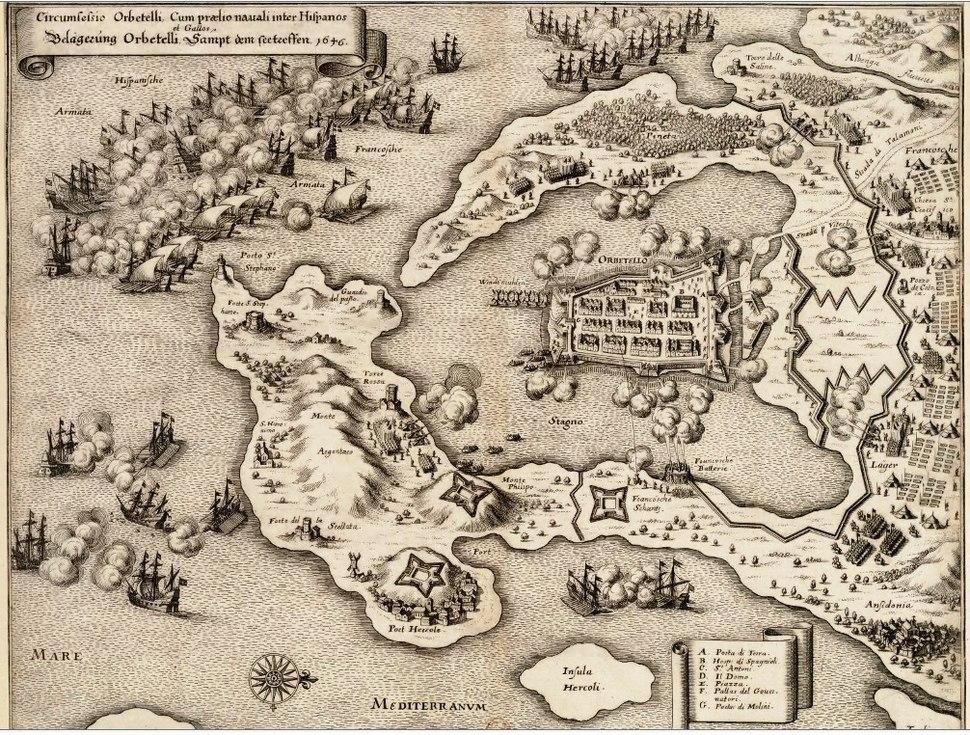 Bataille navale et Siege d Orbitello 1646
