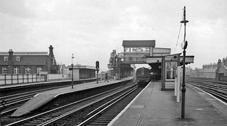 Battersea Park railway station - View from platform 4 in 1961