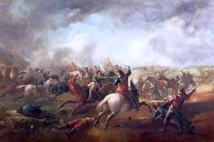 Battle of Marston Moor in 1644 Battle of Marston Moor, 1644.png