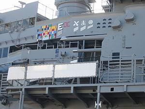 Battleship Missouri awards display, wide shot.jpg