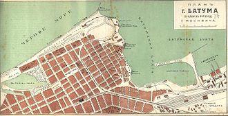 History of Batumi - Map of Batumi, 1913