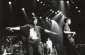 Beastie Boys - The Beastie Boys at Club Citta Kawasaki, Japan  Check Your Head tour Photo: Masao Nakagami, September 16, 1992