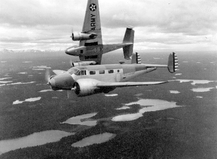 F-2s in Alaska, 1941 Beechcraft F-2s in Alaska June 1941.png