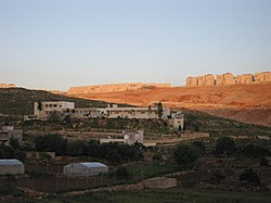 Beitar Illit settlement encroaching on Wadi Fukin