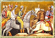 Mongols pursuing Béla after the Battle of Mohi