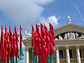 Belarusian Flags and Facade - Outside Palace of the Republic - Minsk - Belarus - 01 (27546625545).jpg