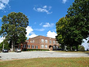 Adams, Tennessee - The old Bell School building, now city hall