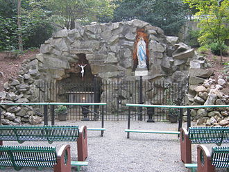 Belmont Abbey College - The Lourdes Grotto