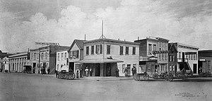 Mission District, San Francisco - Corner of Beale and Mission Streets, San Francisco, c. 1863