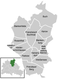 District map of Pankow