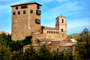 Biel, Aragon - Castle of Biel: Hypothetical virtual reconstruction of the hoardings.