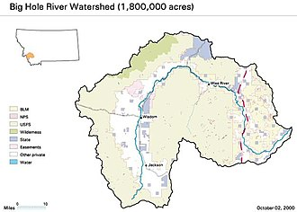 Big Hole River - Big Hole River Watershed Map