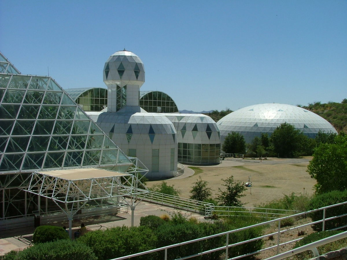Biosphere 2 wikipedia for Construction habitat